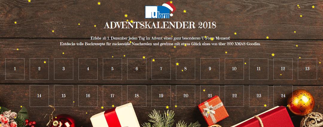 U-Form Adventskalender 2018: Jetzt kostenlos teilnehmen!